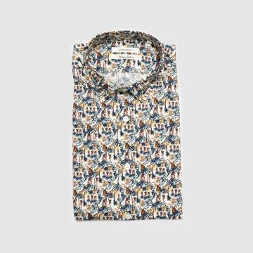 La Chemise Milano Bleu Vert