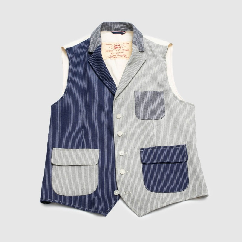 Le Gilet Marius Patch Ray Bleu