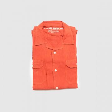 La Chemise Havana Lino Rouge