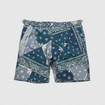 Le Cool short Bandana Bleu