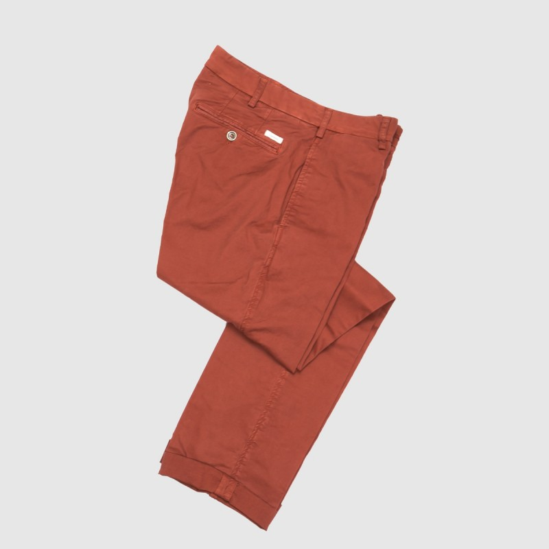 Le Chino Stretch Red Orange