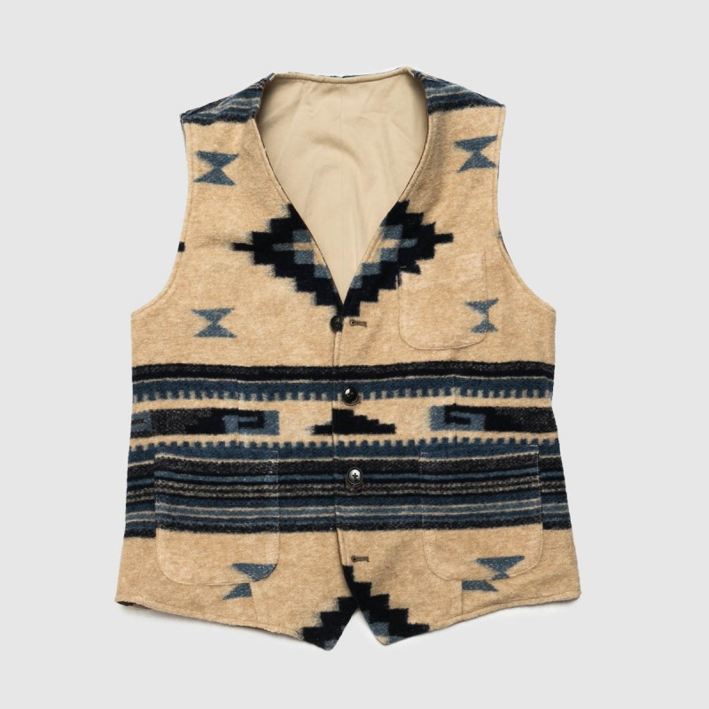 Le Gilet Hunt Marron Bleu