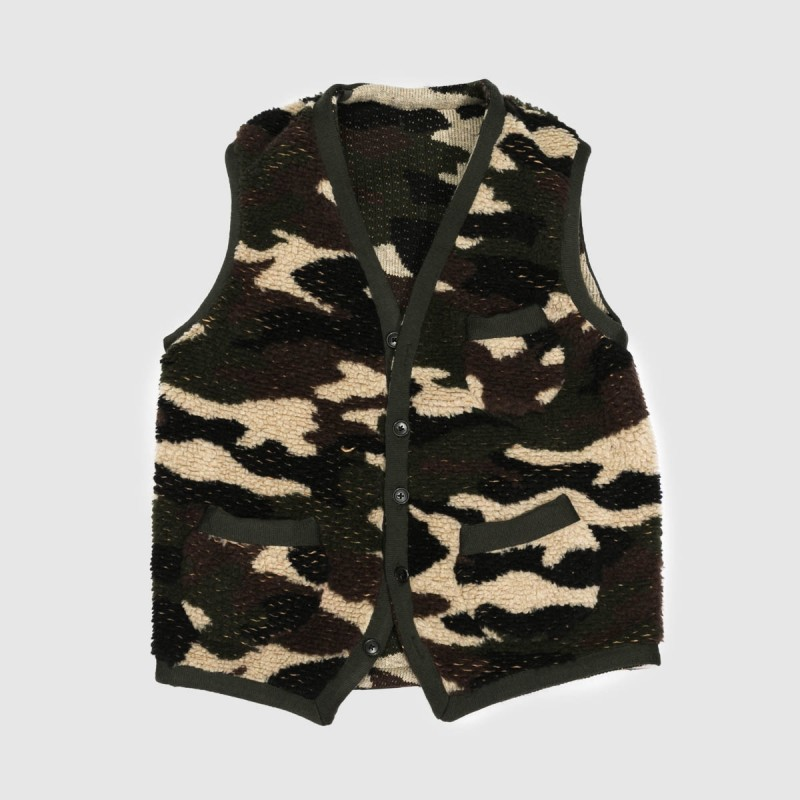 Le Gilet Perfect Wool Camo