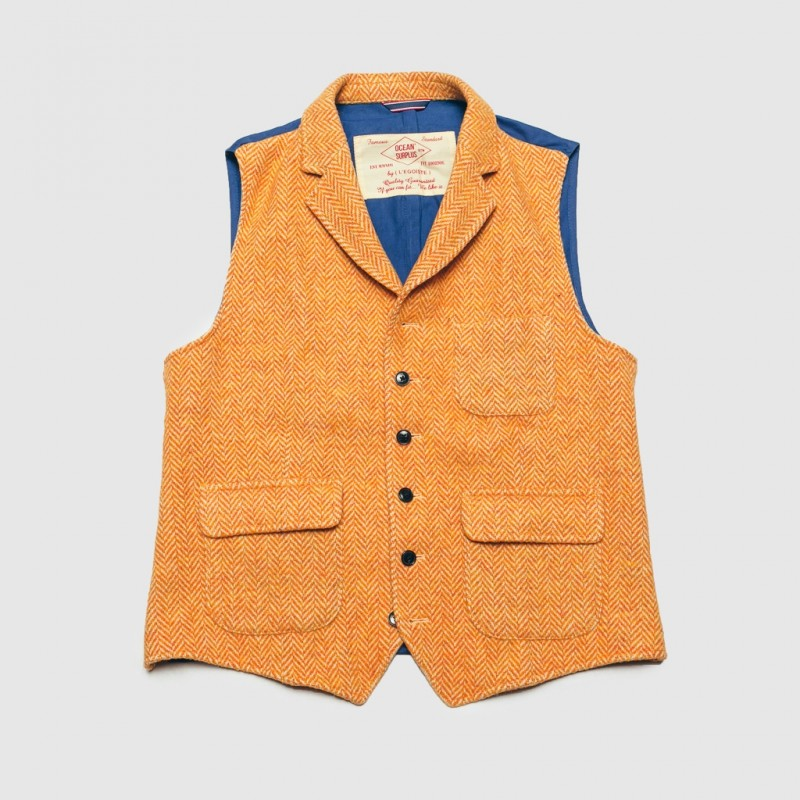 Le Gilet Marius Chevron Orange