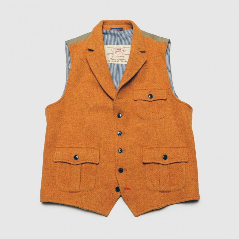 Le Gilet Marius Pocket Orange