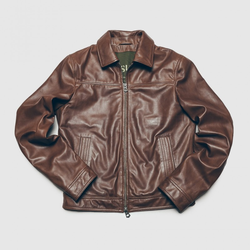 Le Blouson Sean Leather Marron