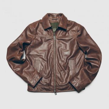 Le Blouson Sean Leather Marron