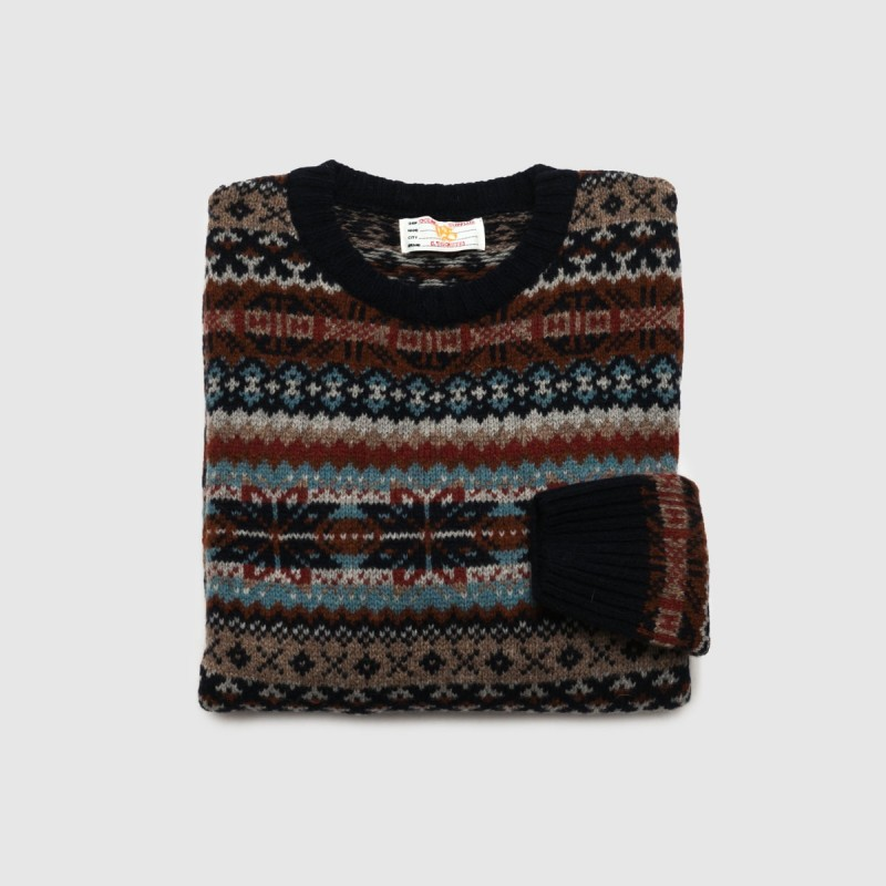 Le Pull Jacquard Navy