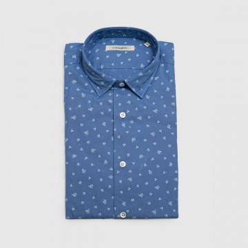 La Chemise Milano Bleue Fleur