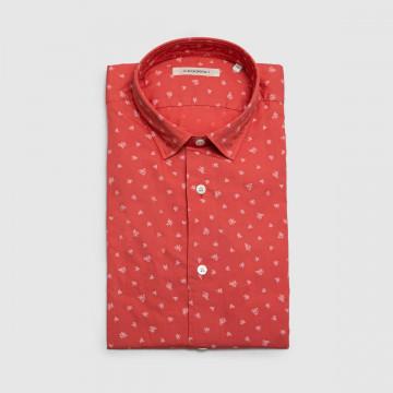 La Chemise Milano Rouge Fleur