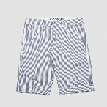 Le Short Rayures Bleu/Blanc