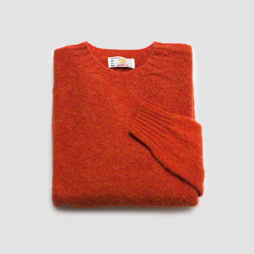 Le Pull Shetland BR Orange