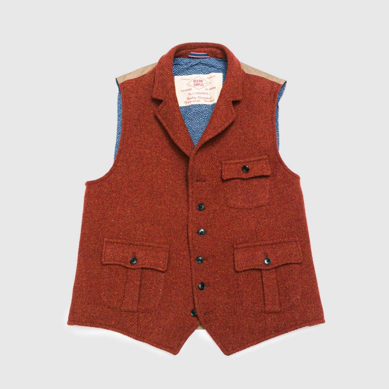 Le Gilet Marius Pocket Rouge