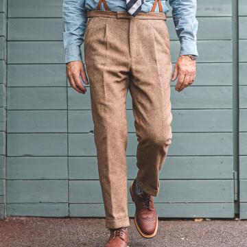 Pantalon pince - CHEVRON...