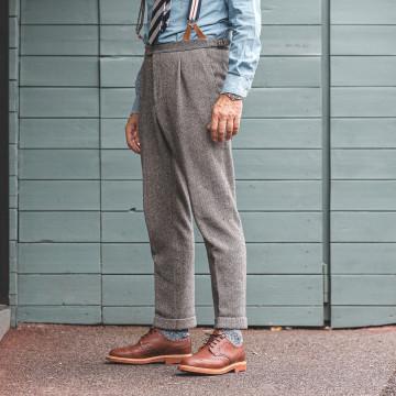 Pantalon pince - CHEVRON BLEU