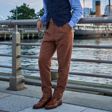 Pantalon pince - CHEVRON ROUGE