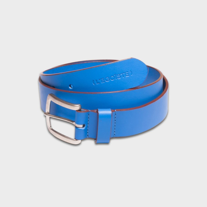 La Ceinture Belt Leather Bleu