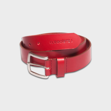 La Ceinture Belt Leather Rouge