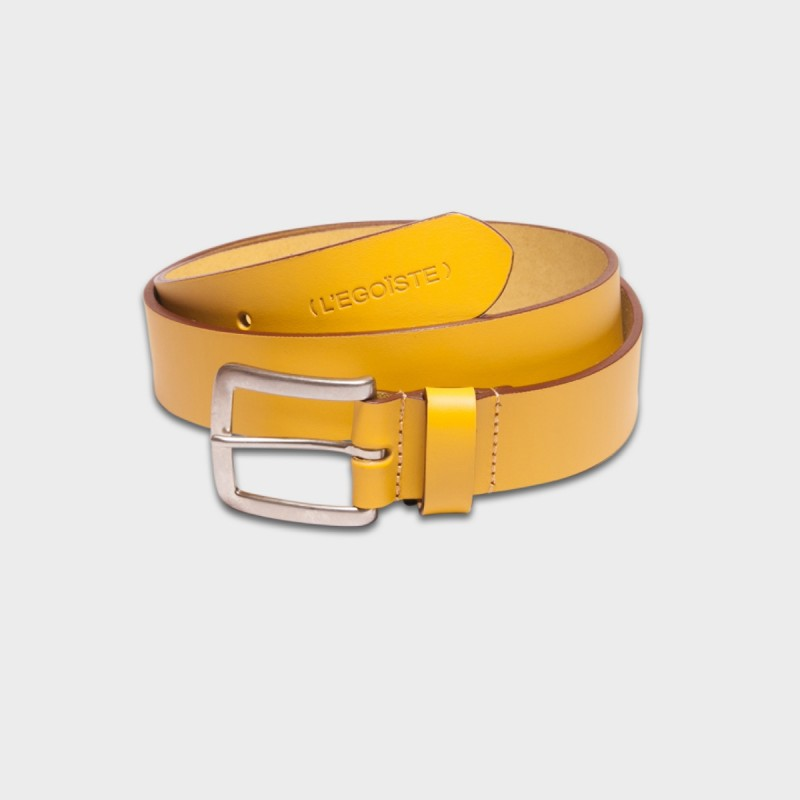 La Ceinture Belt Leather Jaune