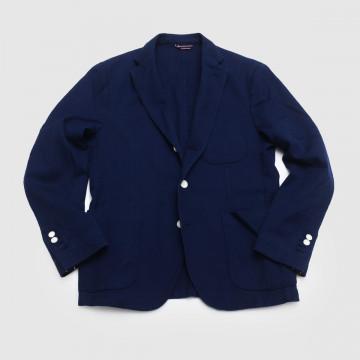 Le Blazer Trendy Piqué Navy