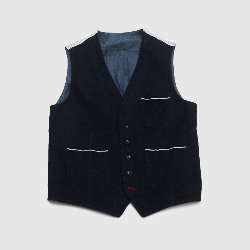 Le Gilet Marius Japan Denim